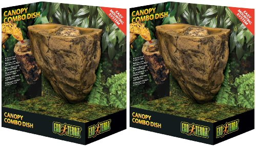 Exo Terra Canopy Combo Arboreal Food & Water Dish 2ct