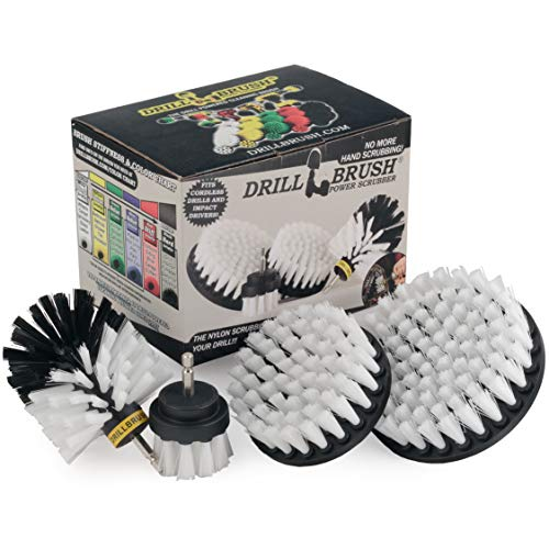 Drillbrush Automotive Soft White Drill Brush – Leather Cleaner – Car Wash Kit – Car Cleaning Supplies – Wheel Cleaner…
