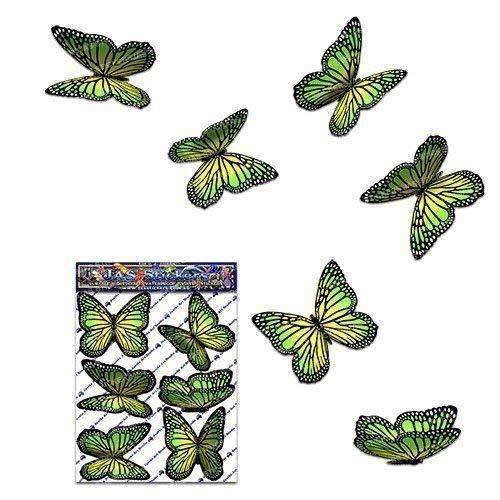 Papillon vert wanderer Autocollants de voiture- ST00028GR_SML - Stickers JAS