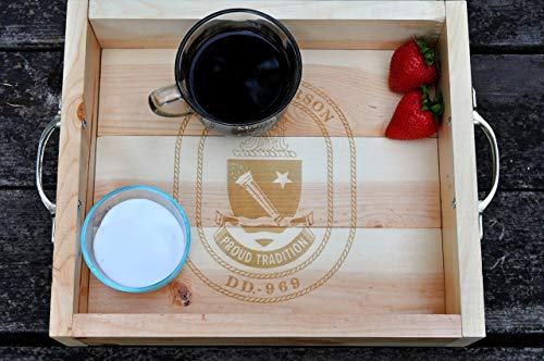 Engraved Personalized Serving Tray Serving Platter Military Gift Anniversary Gift Custom Retirement Gift Housewarming Gift