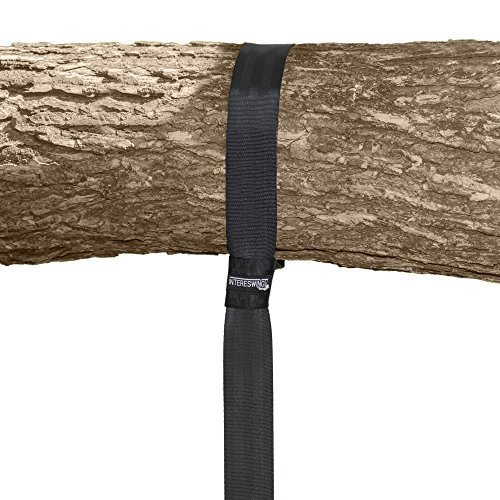 #1 QUICK & EASY Tree Swing Hanging Strap Kit by INTERESWING -Perfect For Tire, saucer, Disc and Web Swings - ONE Strap(60