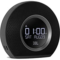 JBL Horizon BLK Radiosveglia FM Doppia, Wireless, Bluetooth con Ricarica Mediante Dock USB e Luce LED Ambiente, Sveglia Sunrise, Compatibile con Smartphone, Tablet e Dispositivi MP3, Nero