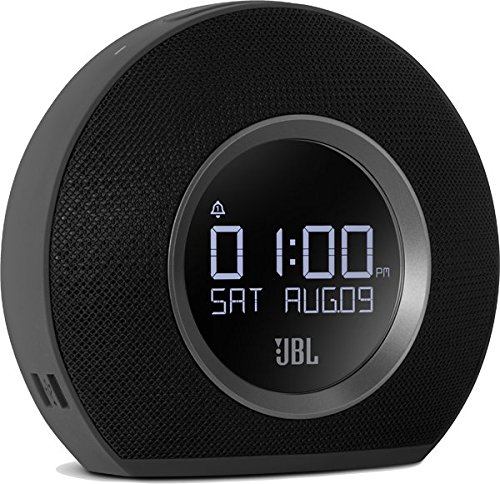 JBL Horizon K951170 - Radio Despertador de Doble Alarma Inalámbrico, Negro