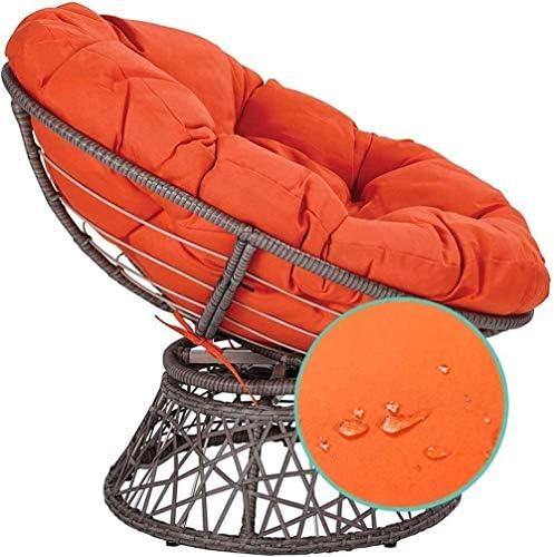 Coussin de chaise.Tissu 100% coton.Le coussin de chaise est épaissi avec un coussin de chaise berçante rond pour le hamac de coussin de chaise berçante