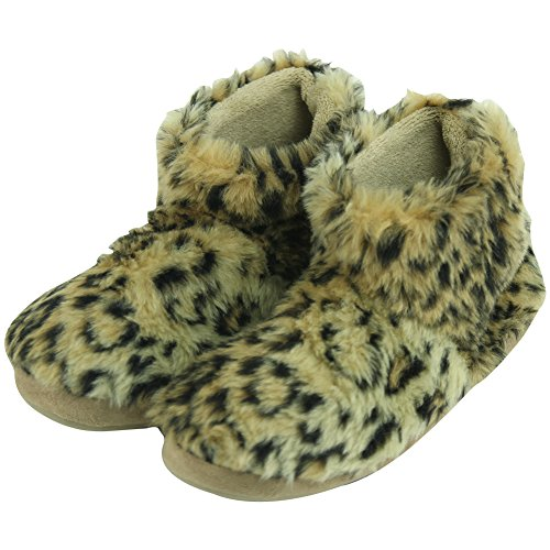 Leopard Forfoot Soft Fashion Slippers Indoor House Fleece Warm Boots Women's Winter Brown rrAwqP5