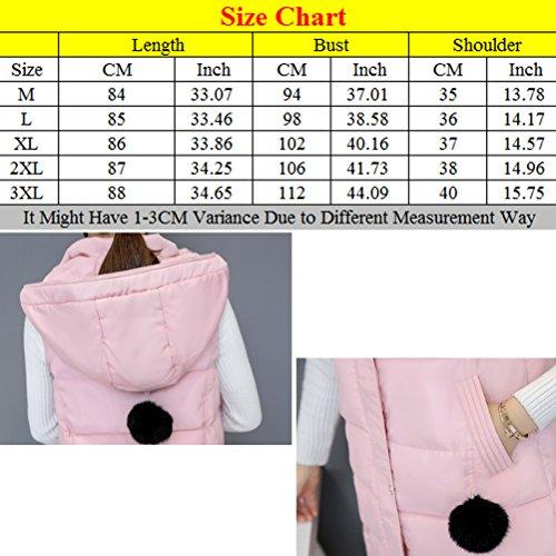 Zhhlaixing Abrigo de moda Long Hooded Vest European and American Style Cotton Vests Slim jacket for Women Green