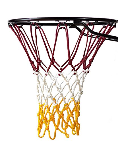 - Fandom Nets Ultra Heavy Duty Basketball Net | NCAA & NBA Size | Fits Indoor and Outdoor Hoop/Goal | Basketball Net Replacement for Official Regulation Size Blue, Yellow, White, Black, Red