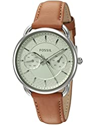 Fossil Womens ES3977 Tailor Multifunction Watch With Dark Brown Leather Band