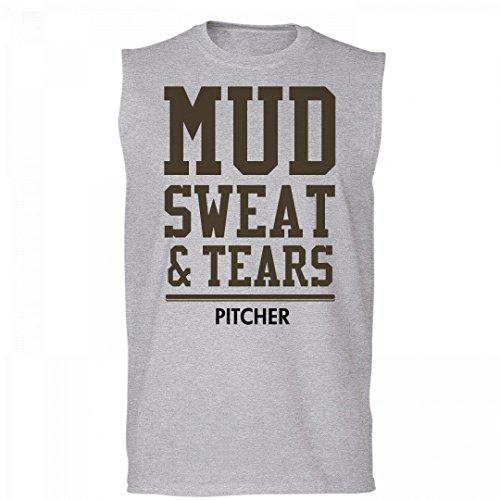 FUNNYSHIRTS.ORG Mud Sweat And Tears Pitcher: Unisex Cotton Sleeveless T-Shirt