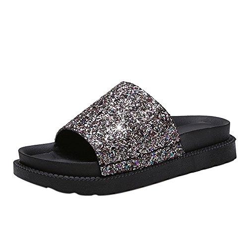7595570958eef7 50%OFF Dirance Women Sequins Flat Non-Slip Platform Slipper Flip Flop Shoes