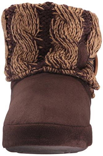 Mukluks Women's Patti Slipper, Chaussons Pour Femme Violett X-large Brown