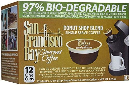 San Francisco Bay Coffee, Donut Shop Coffee, 72 OneCup Single Serve Cups