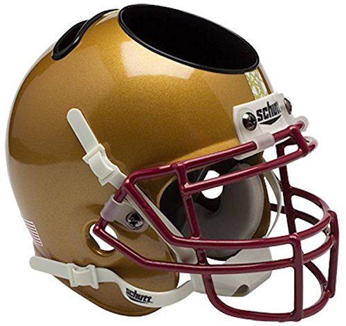 (Boston College Eagles Miniature Football Helmet Desk Caddy - Stained Glass - NCAA Licensed - Boston College Golden Eagles Collectibles)