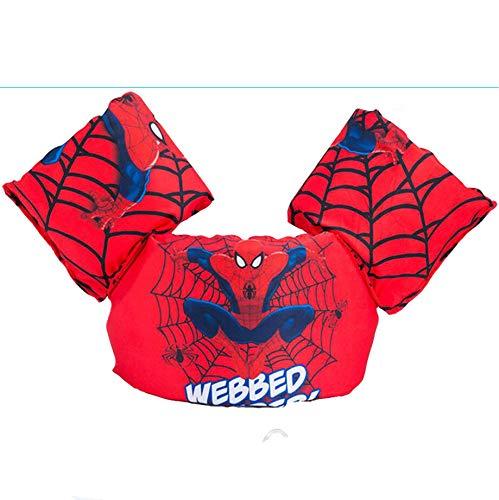 MYSportsworld Children's Buoyancy Clothing Swimwear Life Jacket Vest Baby Floating Sleeve arm Foam Swimming Ring (Red Spiderman) ()