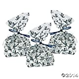 nautical anchor cellophane wedding party favor bags