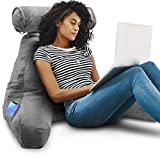 Springcoo Reading Pillow-Shredded Foam Reading Pillow with Detachable Neck Roll Pillow-Great Support for Reading, Relaxing, Watching TV