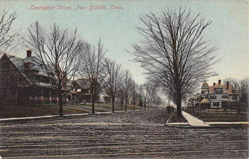 New Britain Connecticut Lexington Street Scene Antique Postcard ()