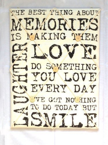 Vintage Quote Padded Notice Pin Fabric Memo Board White With Black Writing Kitchen by Sifcon