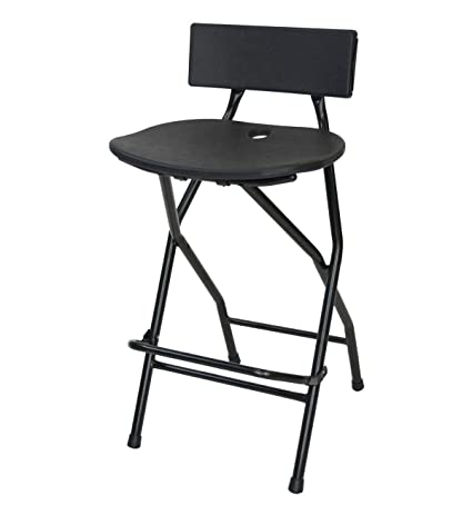 Fine Eventstable Titanpro Folding Bar Stool With Backrest Gmtry Best Dining Table And Chair Ideas Images Gmtryco
