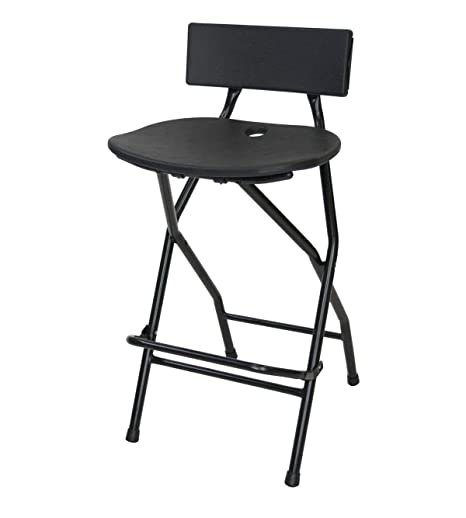 Tremendous Eventstable Titanpro Folding Bar Stool With Backrest Bralicious Painted Fabric Chair Ideas Braliciousco