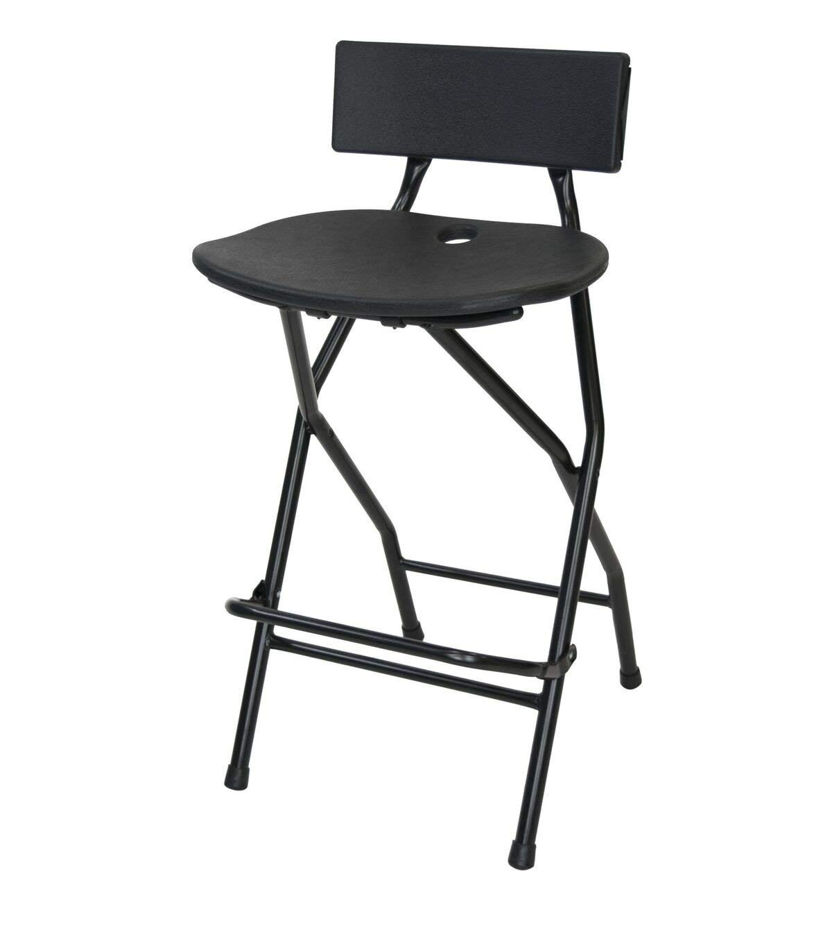 EventStable Folding Bar Stool with Backrest