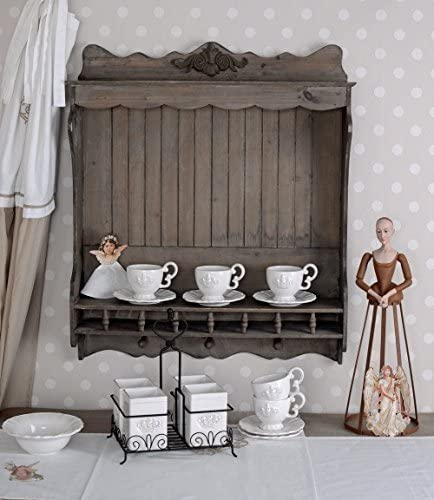 Wandschrank Küchenschrank Tellerregal Antik Wandregal Wandboard Holzregal Antik
