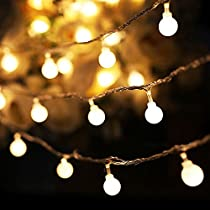 Arespark 100 Led Globe Waterproof Fairy Lights, Warm White (33-Feet)