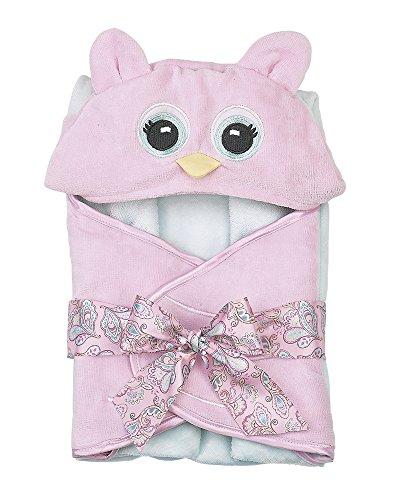 Bearington Baby Lil' Hoots Owl Bath Towel, 24