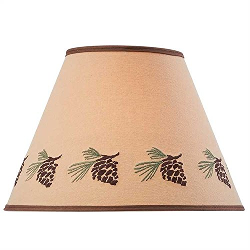 Park Designs Pinecone Embroidered Shade 12 inches (Pine Cone Designs)