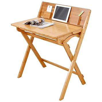 WZC Mesa para computadora Mesa plegable simple Mesa de estudio ...