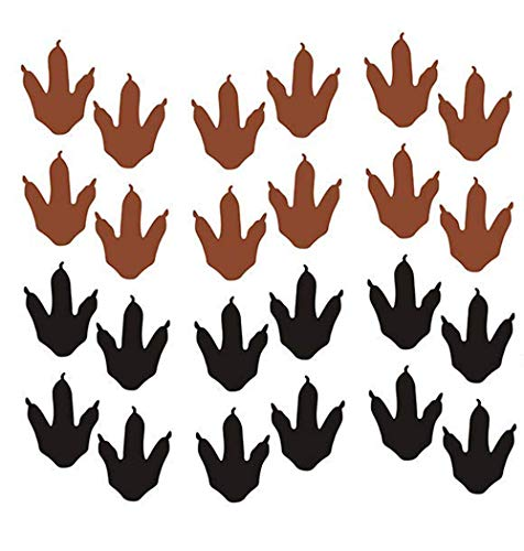 Easma Dinosaur Footprints Wall Decals (56pcs) 4 Size Dinosaur Tracks Decals Dinosaur Decor Baby Nursery Decals Removable Peel and Stick Vinyl Decals