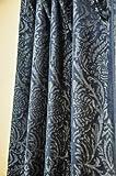 Cheap Isabella Blue Faux Silk curtain (52″W X 120″L)
