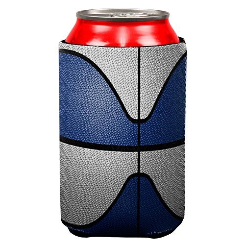 Championship Basketball Navy Blue & White All Over Can Cooler Multi Standard One Size