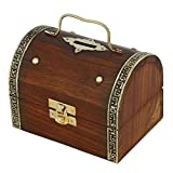 Best ShalinIndia Birthday Gifts For 12 Year Old Girls - Antique Inspired Treasure Chest Wooden Box Safe Money Review