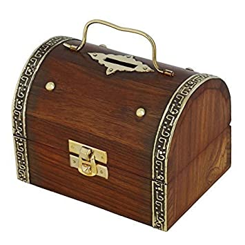 indian coin bank money saving box banks for kids u0026 adults wood vacation piggy