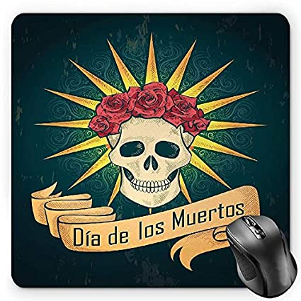 1addd0eae9a1 Amazon.com : BGLKCS Day of The Dead Mouse Pad, Sugar Skull with ...