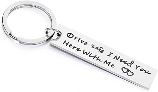 DRIVE SAFE Keyring BEAUTIFUL Wife Daughter Keyring Gifts for Her ❤ Handsome