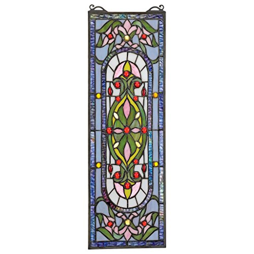 Design Toscano Stained Glass Panel - Palais Royal Stained Glass Window Hangings - Window Treatments