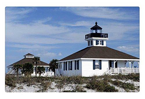 iRocket Indoor Floor Rug/Mat - florida old port boca grande lighthouse (23.6 x 15.7 inches) (Boca Grande Lighthouse)