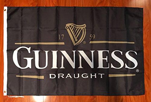 Guinness Draught Beer Black 3'x 5' Flag Banner Bar Decor