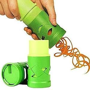 Multifunction Vegetable Fruit Cucumber Turning Cutter Slicer-color Random