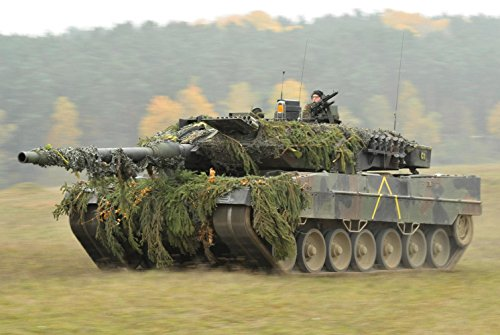 Gifts Delight Laminated 35x24 Poster: German Army Leopard 2A6 Tank in Oct.