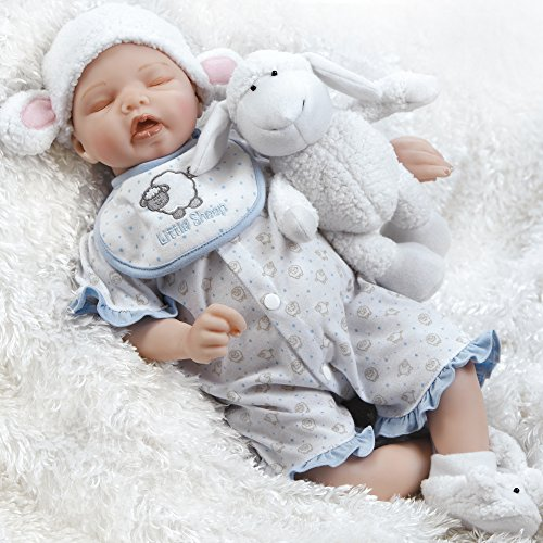 Paradise Galleries Newborn Baby Doll, Sweet Dreams Mary, Musical Ensemble, 19 inch GentleTouch Vinyl