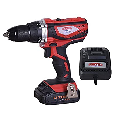Dobetter DBCIW20 20V MAX Lithium-Ion 1/2-Inch Impact Wrench with 4 Pieces Sockets - 1 Pack, Fast Charger