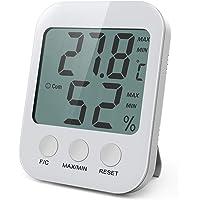 AMIR Termometro Higrometro Interior, Medidor Humedad con Pantalla