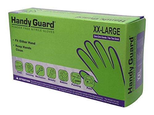 Adenna Handy Guard 5 mil Nitrile Powder Free Gloves (Blue, XX-Large) Box of 90