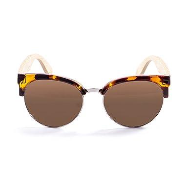 Ocean Sunglasses Sotavento Lunettes de Soleil Mixte Adulte, Demy Brown Frame/Wood Natural Arms/Brown Lens