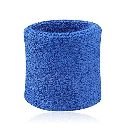 7thLake 1 Pair Sweatbands Sport Wristband Cotton Elastic Sweatbands For Tennis Squash Gym Accessory