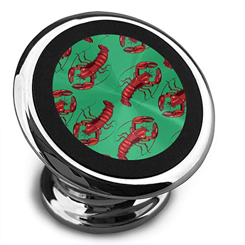 (Magnetic Phone Car Mount,360° Rotation Cellphone Holder,Mini Tablets With Smartphones,Red Lobster)
