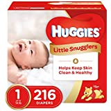 Huggies Little Snugglers Diapers - Size 1 - 216 ct